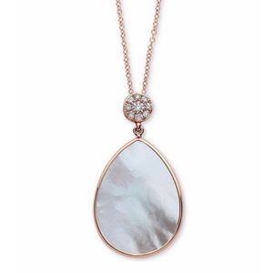 Effy Diamond & Mother-Of-Pearl Pendant Necklace